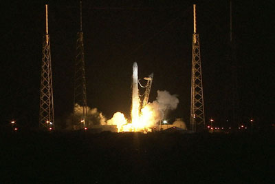 The SpaceX Falcon 9 and Dragon capsule lift off Oct. 7.