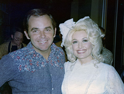 Emmett Given, left, with a very familiar face -- country singer legend Dolly Parton -- in 1974.