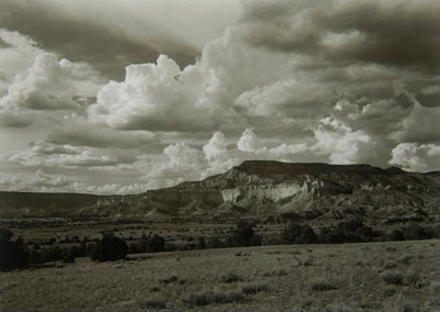 Emmett Given often takes his talent to where he calls 'the land of enchantment' -- New Mexico. Here, his good eye captures a rugged landscape in 2004, near American artist Georgia O'Keefe's home at Ghost Ranch in Abiquiu.