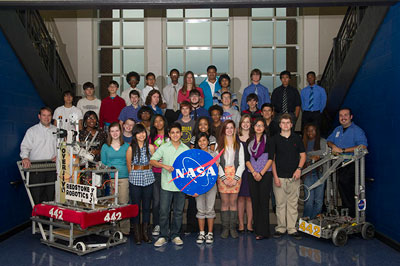 The Marshall Space Flight Center's Academic Affairs Office recently awarded a Robotics House Team Grant to Team 442 -- Redstone Robotics, whose members are students from Lee High School and New Century High School, both in Huntsville.