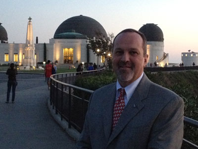 Coinciding with the opening of the new Endeavour exhibit in California, SLS Associate Program Manager Jerry Cook spoke to the public Nov. 2 at a space exploration panel at the Griffith Observatory in Los Angeles.