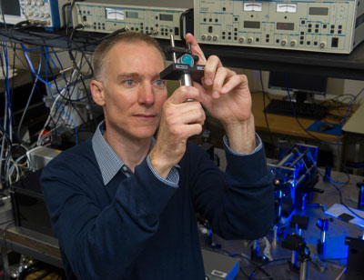 Marshall optical physicist Dr. David Smith is leading development of advanced gyroscopes that could revolutionize in-flight navigation systems for space, air and sea vehicles.
