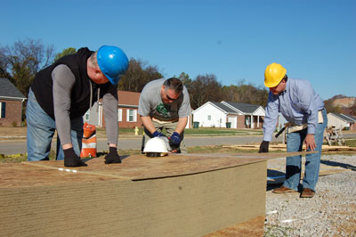 Team members from Marshall's Office of Strategic Analysis & Communications held a CFC workday Nov. 20 at Habitat for Humanity of Madison County.