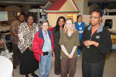 Participating in a CFC bus tour, Marshall Center team members recently visited the Huntsville Hospital Regional Neonatal Intensive Care Unit.