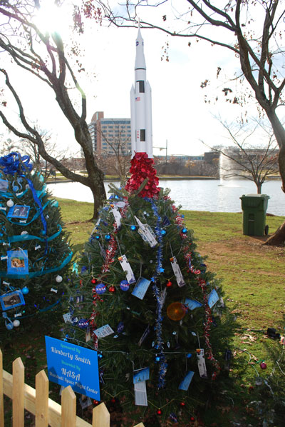 For the second year, Marshall Center team members decorated a live Christmas tree for the Downtown 47 Tinsel Trail in Big Spring International Park in Huntsville. The display, which features more than 200 festive trees, is open for free viewing by the public until Jan. 2, 2013.