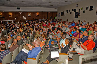 Members of the Marshall Center workforce fill Morris Auditorium Aug. 16 to help celebrate the achievements of hundreds of their fellow team members.