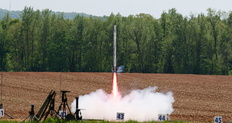 The launch of the rocket built by a team from Alabama A&M University of Huntsville was the grand finale of the 2012-13 Student Launch Projects 'Launchfest.' Not only was it the last rocket to fly on April 21, but it also earned the Altitude Award for flying closest to 1 mile without going over.