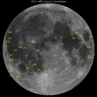 MSFC Lunar Impact Flash Detections