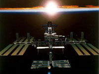 Photo description: Artist concept of the International Space Station.