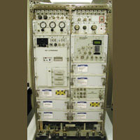 Photo description: The Human Research Facility (HRF) houses equipment to investigate the effects of microgravity on human physiology. Key hardware includes a laptop computer, computer workstation, ultrasound imager and gas analyzer.