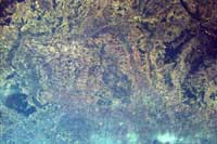 Photo dedscription: Using the Internet and a digital camera mounted to the Space Station's laboratory window, EarthKAM students are able to take stunning, high-quality photographs of our planet, such as this image of Transylvannia, taken May 2001.