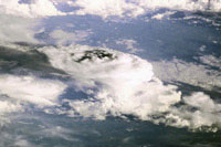The first image of Earth taken from the Space Station offers a stunning view of a thunderstorm as seen from space.
