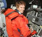 Photo description: Eileen Collins