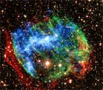 Photo description: Composite image of the supernova remnant W49B