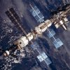 Photo description: International Space Station, August 20, 2001