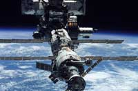 Photo description: International Space Station, shortly after undocking from the Space Shuttle Endeavour on June 15, 2002