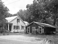 Loveless House (left) and Grocery in the town of Gainesville