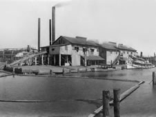 H. Weston Lumber Co. sawmill in the South Mississippi community of Logtown.