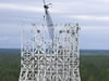 Steel work is nearing completion on the A-3 Test Stand at Stennis Space Center