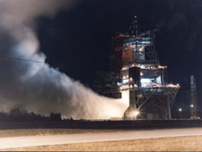 Space Shuttle Main Engine Night Test