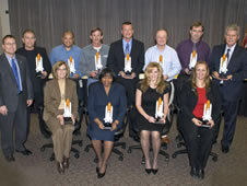 Fourteen NASA John C. Stennis Space Center employees recently were honored by NASA's Space Flight Awareness program for their contributions to flight safety throughout the year.