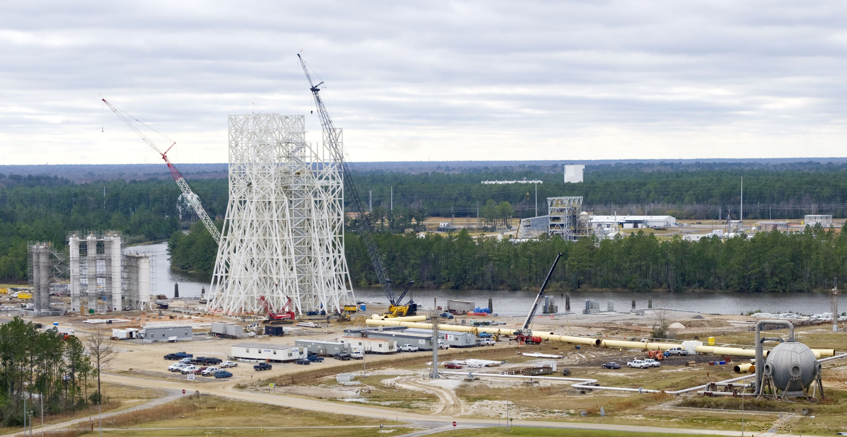 John C Stennis Space Center : Nasa a test stand to mark several construction