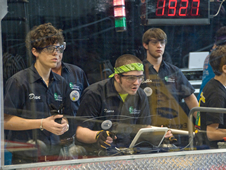 St. Patrick Catholic High School in Biloxi, Miss., focus on guiding their robot on the 2010 Bayou Regional playing field during the annual competition.