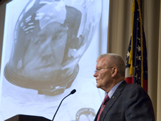 Biloxi native Fred Haise talks about his experience as lunar module pilot on the Apollo 13 mission.