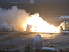 NASA conducted a test fire of the liquid-fuel AJ26 engine that will power the first stage of Orbital Sciences Corp.'s Taurus II space launch vehicle.
