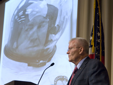 Apollo 13 astronaut Fred Haise visited Stennis to mark the 40th anniversary of the mission and recount his experiences on the flight.