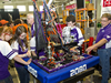 Robotics team from Hammond High School prepare their robot for another round of competition at 2011 Bayou Regional FIRST Robotics Competition.