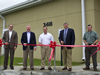 NASA and project representatives cut the ribbon on a new cryogenics control center at John C. Stennis Space Center.