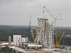 Work on the new A-3 Test Stand at Stennis Space Center continues.