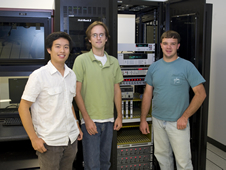 Student interns Harvest Zhang, Ryan Nazaretian and Jason Warren made significant contributions to an upgrade of the NASA Data Acquisition System Software.