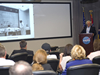 John C. Stennis Space Center historian Marco Giardino speaks to facility employees during the first