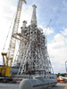 Construction of the new A-3 Test Stand continues at Stennis Space Center.