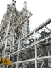 The A-3 Test Stand under construction is the first large test structure built at Stennis since the 1960s.