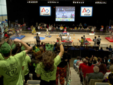 Supporters cheer their teams on during the FIRST Robotics Bayou Regional Competition in Kenner on March 15-17.