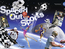 NASA's Spaced Out Sports Challenge poster