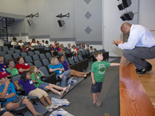 Local 4-H students visit Stennis Space Center and talk with NASA Associate Administrator for Education Leland Melvin.