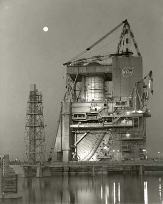 Photo- A-2 Test Stand at Night