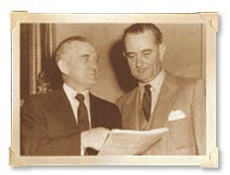 Thumbnail - Senator Stennis with President Johnson