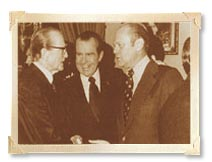 Thumbnail - Senator Stennis with President Nixon and President Ford