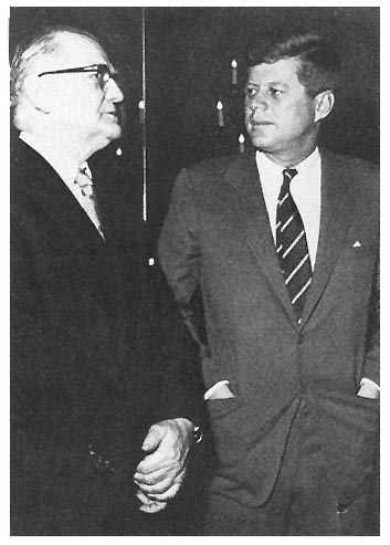 Photo - Senator Stennis with President Kennedy