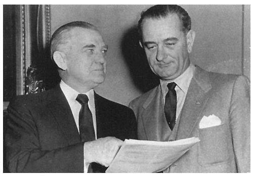 Photo - Senator Stennis with President Johnson