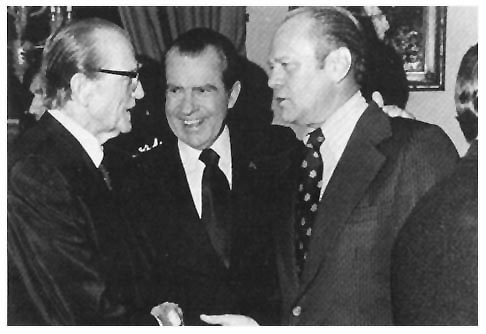 Photo - Senator Stennis with President Nixon and President Ford