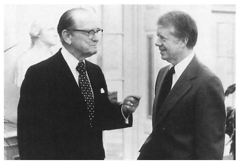 Photo - Senator Stennis with President Jimmy Carter