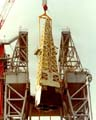 Photo - MPTA Lifted onto Test Stand