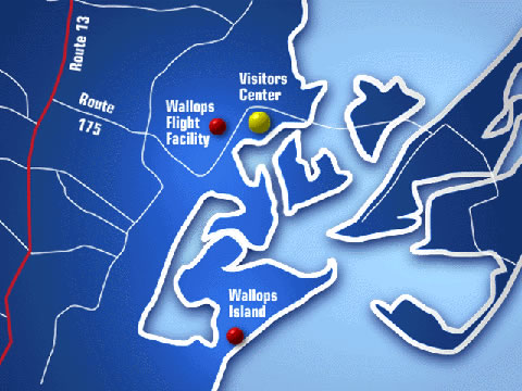 Local Map of Wallops