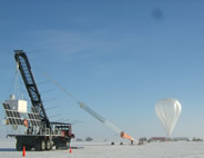 Cream 2 and scientific balloon ready for launch in Antarctica